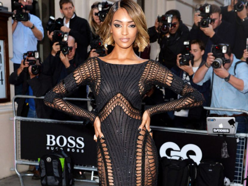 Fashion model, Jourdan Dunn on the red carpet at the British GQ Men of the Year Awards