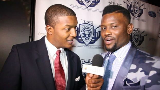 What's The 411Sports reporter, Chris Graham talking with New York Giants cornerback Walter Thurmond about the Launch of the Walter Thurmond Foundation for Arts and Education