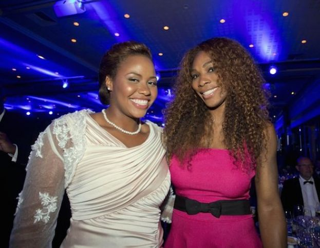 Taylor Townsend (left) and Serena Williams (right) at ITF World Champions Dinner at Pavillion D'Armenonville on June 4, 2013 in Paris, France