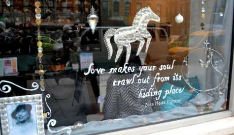 Books Take Center Stage in Holiday Window Displays