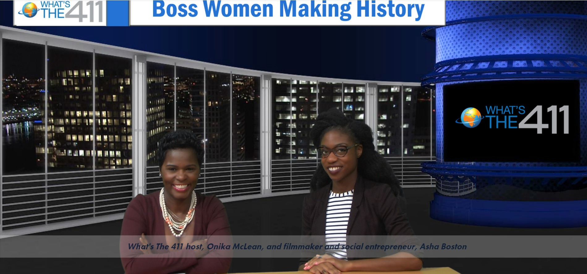What's the 411 co-host, Onika McLean, interviewing millennial entrepreneur Asha Boston