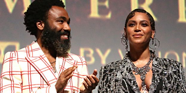 Actors, Donald Glover and Beyonce starring in Disney's remake of The Lion King