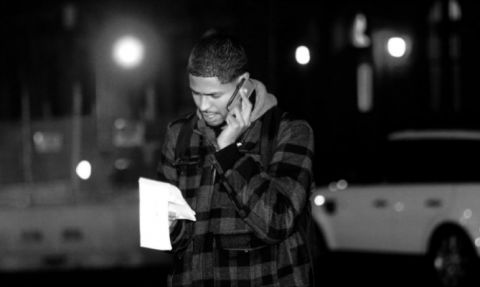 Journalist Michael J. Feeney working the night shift in Harlem, NY. Feeney passed away on January 31, 2016, at age 32.