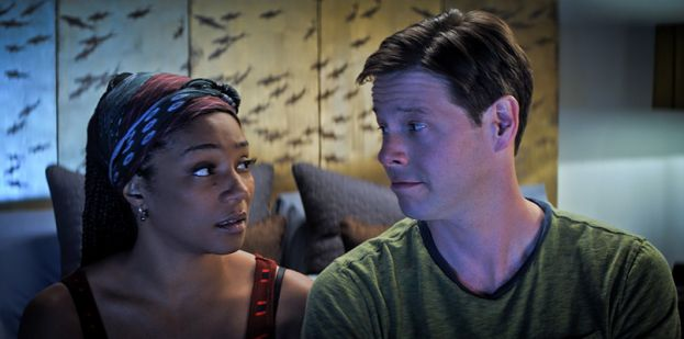 Tiffany Haddish (left) and Ike Barinholtz in the movie,