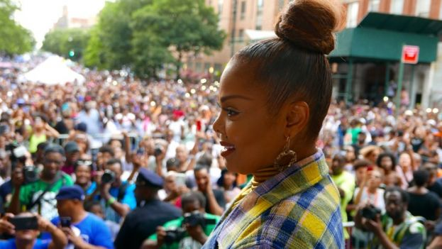 Janet Jackson, performing a free concert in Harlem during Harlem Week 2018