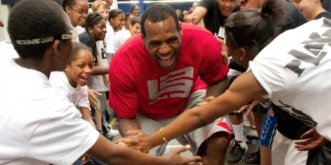 LeBron James has partnered with the University of Akron to provide a guaranteed four-year scholarship to the school for students in James' I Promise program who qualify.