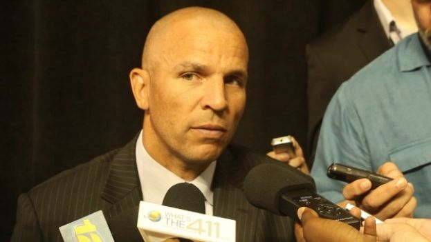 Brooklyn Nets Head Coach Jason Kidd addressing the media
