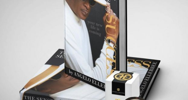 Angelo Ellerbee's new book, The Sense of Success, and candle, The Scent of Success