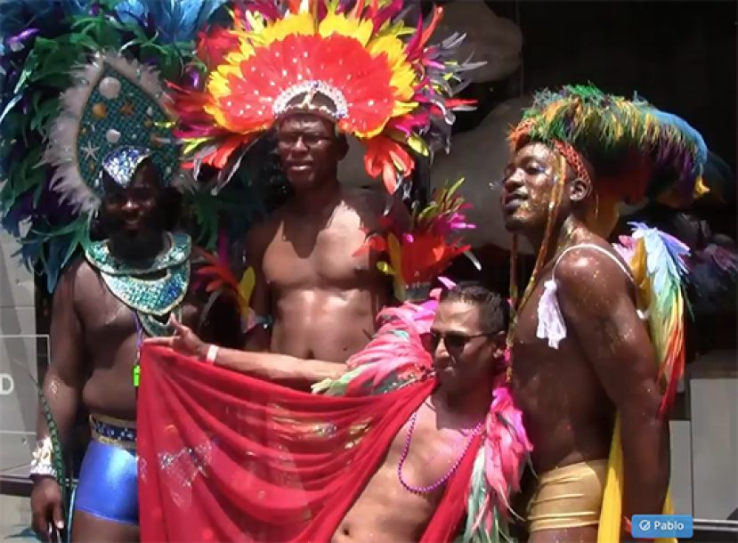 Caribbean members of the LGBT community having a great time at the NYC Gay Pride Parade 2018
