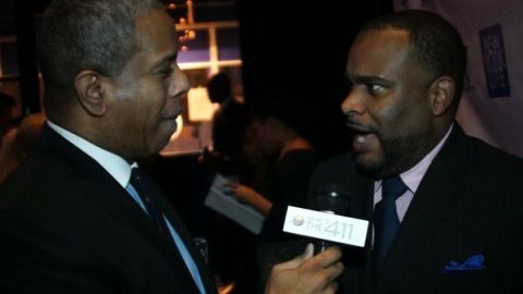 Christopher Chaney talking with Glenn Gilliam at the NV Movers and Shakers Awards
