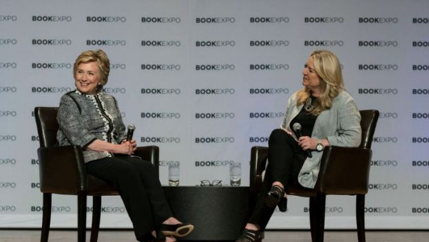 Hillary Clinton (left) at Book Expo America 2017