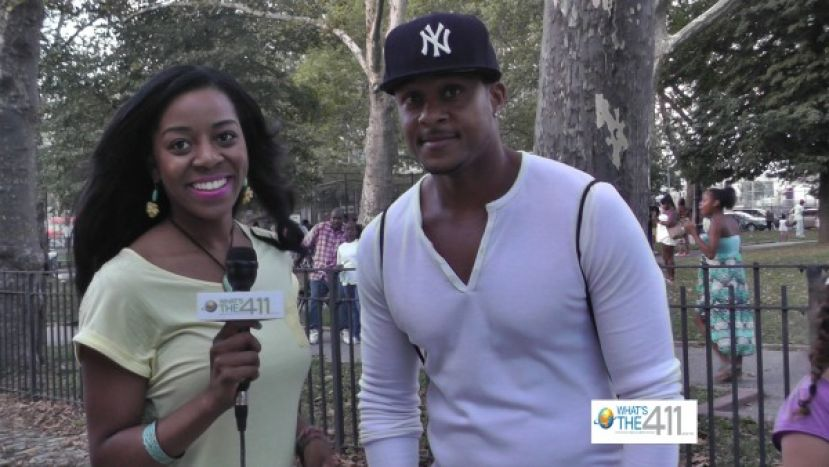 "Actor Marion H. ""Pooch"" Hall, Jr. talking with What's The 411 correspondent Bianca Peart"
