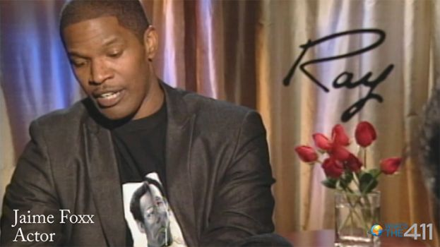 Actor/comedian Jamie Foxx being interviewed by What's The 411 film correspondent Diana Blain