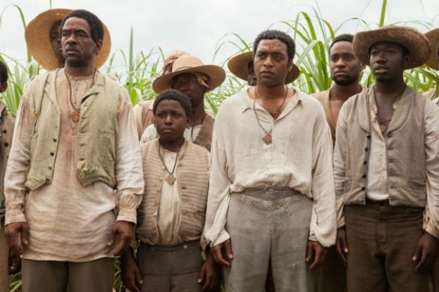A scene with some of the male cast members from the movie, 12 Years A Slave