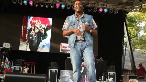 Big Daddy Kane on stage at the celebration of 40 Years of Hip-Hop at Central Park Summerstage