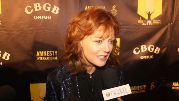 Actress Susan Sarandon on the red carpet for the Amnesty International concert
