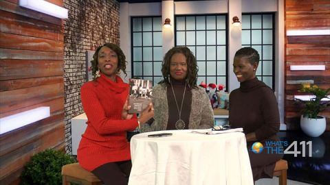Photo from left to right: Award-winning journalist and What's The 411 co-host, Kizzy Cox; Terra Renee, author, and President, African American Women in Cinema, and; Onika McLean, comedian and co-host of What's The 411