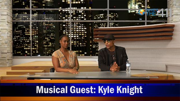 Keshia Wilson, What's The 411Sports host, and Kyle Knight, an up-and-coming, conscious hip-hop artist, on the What's The 411 set