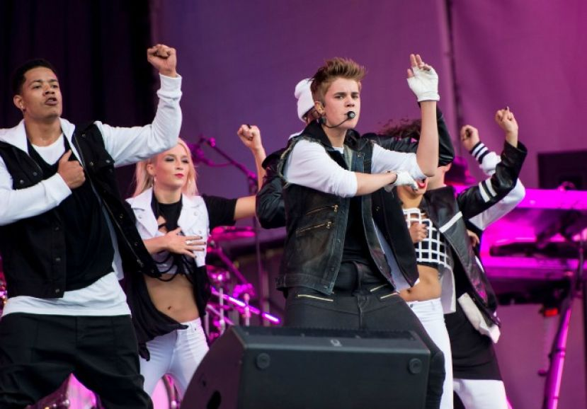 Justin Beiber performing in Oslo, Norway
